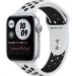 image produit Apple Watch Nike Series 6 GPS, 44mm boitier aluminium argent avec bracelet sport noir
