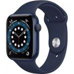 image produit AppleWatch Series6 (GPS, 44 mm) Boîtier en aluminium bleu, BraceletSport marine intense