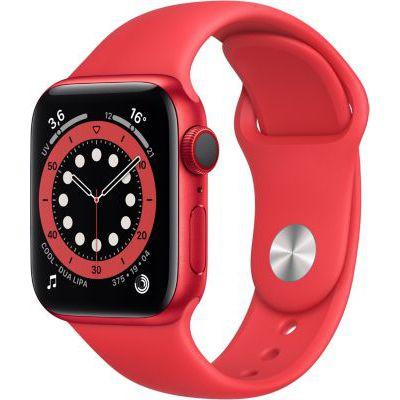 image AppleWatch Series6 (GPS+ Cellular, 40 mm) Boîtier en aluminium PRODUCT(RED), Bracelet Sport PRODUCT(RED)