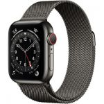 image produit AppleWatch Series6 (GPS+Cellular, 40 mm) Boîtier en acier inoxydable graphite, Bracelet Milanais graphite