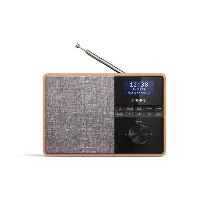 image produit Philips R5505/10 Radio portable, Radio de cuisine (Bluetooth, Étui bois, Radio DAB+, Diaphragme 3 pouces à large bande, Minuteur de cuisine, Fonctionne sur réseau ou à piles - Modèle 2020/2021