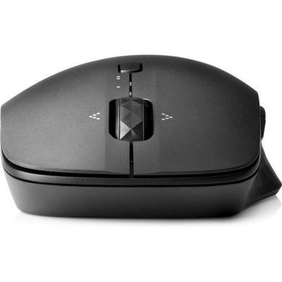 image HP Souris de Voyage - Souris Sans Fil Noire (Bluetooth, 4 boutons programmables, Navigation Double Appareil)