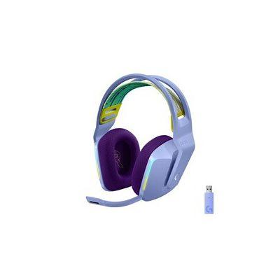 image Logitech Casque Gaming sans fil LIGHTSPEED G733 de Logitech avec Bandeau de Suspension, LIGHTSYNC RVB, Technologie de Micro Blue VO!CE et Transducteurs Audio PRO-G - LILAC