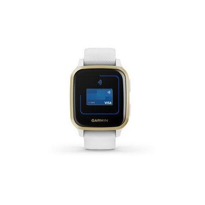 image Garmin Venu Sq - Montre Connectée santé bien-être -GPS intégré, Multisports , Cardio Poignet, Garmin Pay, Autonomie Longue Durée – White/Light Gold - Cadran 40 mm