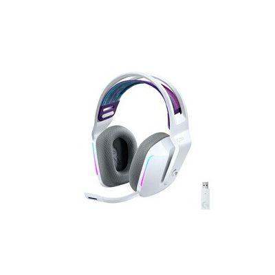 image Logitech Casque Gaming sans fil LIGHTSPEED G733 de Logitech avec Bandeau de Suspension, LIGHTSYNC RVB, Technologie de Micro Blue VO!CE et Transducteurs Audio PRO-G - WHITE