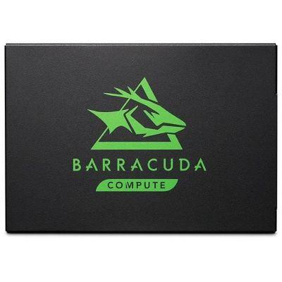 image Seagate BarraCuda 120 SSD 500 Go, SSD interne, 2,5 pouces SATA 6 Gbits/s pour PC de bureau et portable, Ouverture facile (ZA500CM1A003)