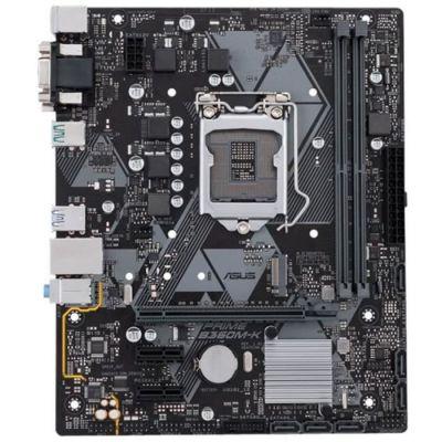 image ASUS PRIME B360M-K - Carte mère Intel LGA-1151 au format mATX avec éclairage LED, mémoire DDR4 de 2 666 MHz, support M.2, ports SATA 6 Gb/s et USB 3.1 Gen 2