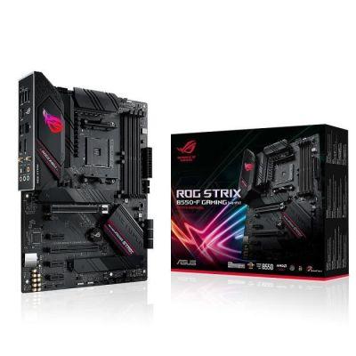 image ROG STRIX B550-F GAMING (WI-FI) – Carte mère AMD B550 Ryzen AM4, ATX, PCIe 4.0, WiFi 6, Ethernet Intel 2.5Gb, 2xM.2, OptiMem II, Microphone anti-bruit avec IA, USB 3.2 Gén. 2, éclairage Aura Sync RGB