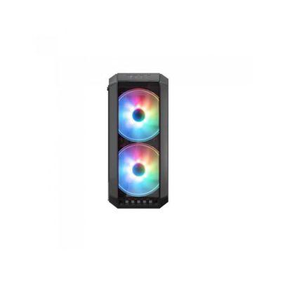 image COOLER MASTER MasterCase H500 ARGB Boîtier PC Gaming (ATX, Panneau en verre trempé, 2x200mm ARGB)
