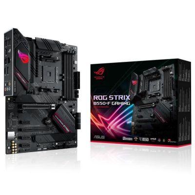 image ROG STRIX B550-F GAMING – Carte mère AMD B550 Ryzen AM4, ATX, PCIe 4.0, 14 phases d'alimentation, Ethernet Intel 2.5Gb, 2xM.2, OptiMem II, Microphone anti-bruit avec IA, USB 3.2 Gén. 2, Aura Sync RGB