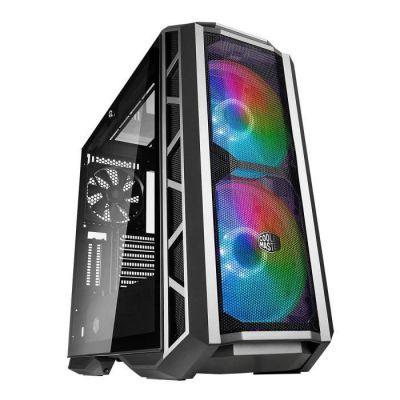 image COOLER MASTER MasterCase H500P Gunmetal Mesh ARGB Boîtier PC Gaming (ATX, Panneau en verre trempé, 2x200mm ARGB)