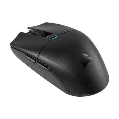 image Corsair KATAR PRO WIRELESS Souris Gaming (Capteur Optique 10 000 DPI, Forme Symétrique, Inférieure à 1 ms Technologie Wireless, Jusqu'à 135 Heures Batterie, Six Boutons Programmables) Noir