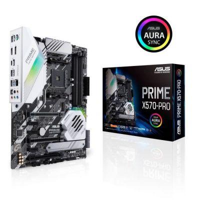image ASUS Carte Mère Gaming Prime X570-PRO AMD AM4 Ryzen 3000 (14 DrMOS power stages PCIe 4.0 M.2 DDR4 Intel LAN HDMI DP SLI CFX SATA USB 3.2 Gen 2 Type-A Type-C Aura Sync RGB lighting ATX)