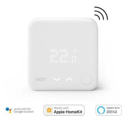 image tado° Sonde de température sans fil, un accessoire en complément des Têtes Thermostatiques Intelligentes, Installez par vous-même