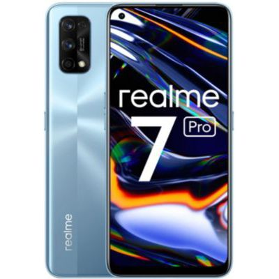 image REALME 7 Pro Argent Smartphone Débloqué 4G+ - (Ecran : 6,4 Pouces – 8 Go RAM – 128 Go ROM - Double Nano SIM - Android) [Version Française] + coque transparente offerte