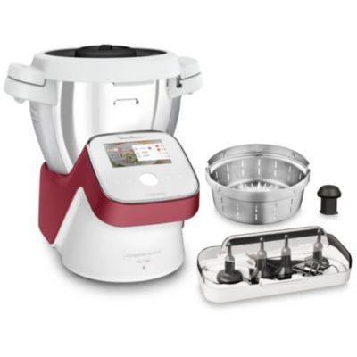 image Moulinex I-Companion Touch XL Robot Cuisine Multifonction 1550 W Cuiseur Ecran Tactile Capacité 4,5L 10 Personnes 14 Programmes Couteau Hachoir Pétrin/Concasseur Fouet Mélangeur Panier Vapeur HF934510