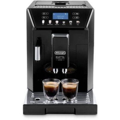 image De'Longhi Eletta Evo ECAM 46.860.B Machine à café automatique avec système de lait, cappuccino et expresso sur simple pression d'un bouton, écran LCD et touches tactiles Noir