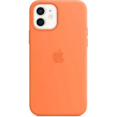 image Apple Coque en Silicone avec MagSafe (pour iPhone12, 12Pro) - Kumquat