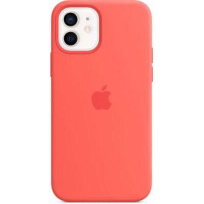 image Apple Coque en Silicone avec MagSafe (pour iPhone12, 12Pro) - Rose agrume