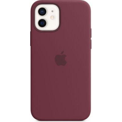 image Apple Coque en Silicone avec MagSafe (pour iPhone12, 12Pro) - Prune