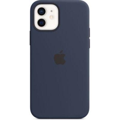 image Apple Coque en Silicone avec MagSafe (pour iPhone12, 12Pro) - Marine Intense
