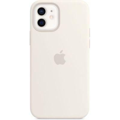 image Apple Coque en Silicone avec MagSafe (pour iPhone12, 12Pro) - Blanc