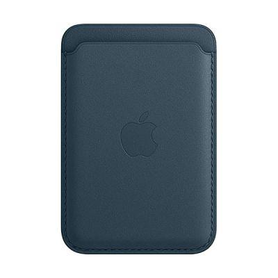 image Apple Porte-Cartes en Cuir avec MagSafe (pour iPhone) - Bleu Baltique