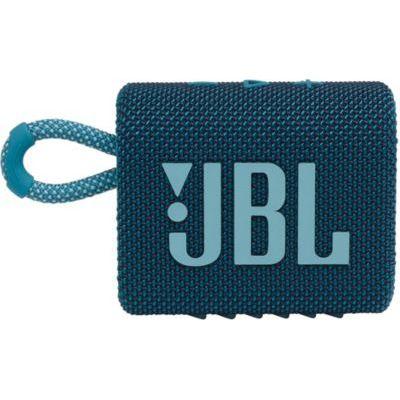 image JBL GO 3 – Enceinte Bluetooth portable et légère, aux basses intenses et au style audacieux – Étanche à l'eau et à la poussière – Autonomie 5 hrs – Bleu