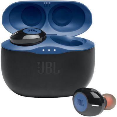 image JBL TUNE 125TWS – Écouteurs intra-auriculaires sans fil – Bluetooth – Autonomie jusqu'à 32 heures avec l'étui de recharge – Couleur : bleu
