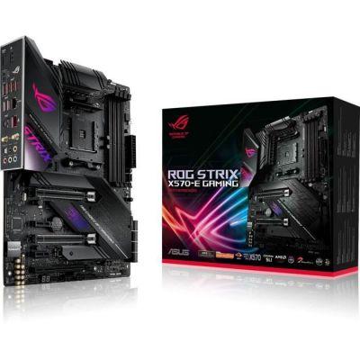 image ASUS Carte Mère Gaming ROG Strix X570-E Gaming AMD AM4 Ryzen 3000 (16 power stages PCIe 4.0 M.2 DDR4 Wi-Fi 6(802.11ax) 2.5G LAN Intel LAN HDMI DP SLI CFX SATA USB 3.2 Gen 2 Type-A Type-C Aura Sync)
