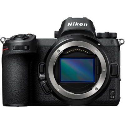 image Nikon Z 6II boitier nu, Appareil Photo Numérique Hybride Plein Format (24,5 MP, 4K/30p, rafale 14 i/s, stabilisation sur capteur 5 axes, double slots SD & XQD ou CFexpress)