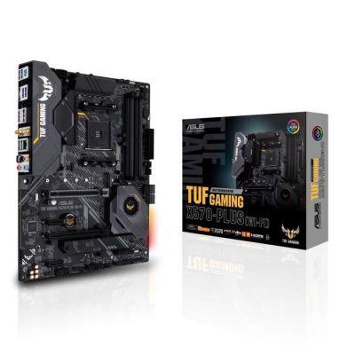 image ASUS Carte Mère Gaming TUF Gaming X570-Plus (Wi-Fi) AMD AM4 Ryzen 3000 (PCIe 4.0 M.2 12+2 Dr. MOS DDR4 LAN HDMI DP CFX USB 3.2 Gen 2 Type-A Type-C Aura Sync RGB ATX)