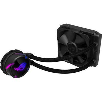 image ROG STRIX Cooler CPU Tout-En-Un ROG, avec éclairage réglable RGB, Aura Sync, Revêtement de Pompe Ncvm et Ventilateur de Radiateur ROG 1x ROG FAN 120 mm