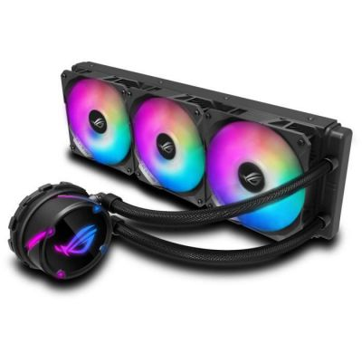 image ROG STRIX LC 360 RGB, Cooler CPU All-IN-One ROG, avec éclairage Addressable RGB, Aura Sync, Revêtement de Pompe Ncvm et Ventilateur de Radiateur ROG