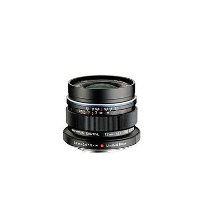 image Olympus M.Zuiko Objectif Digital ED 12mm F2.0, focale fixe lumineuse, compatible tout appareil Micro 4/3 (modèles Olympus OM-D & PEN, Panasonic série G), Noir