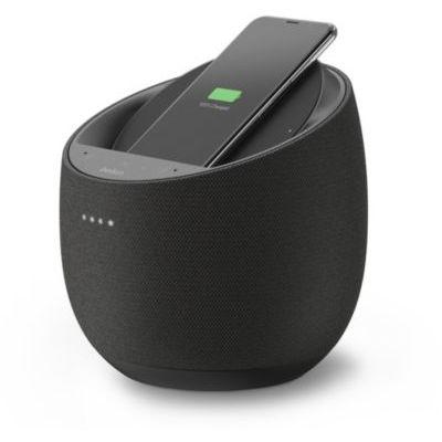 image Belkin Enceinte Hi-Fi connectée + Chargeur à induction intégré SoundForm Elite (Alexa, Bluetooth, Devialet, AirPlay 2, noir)