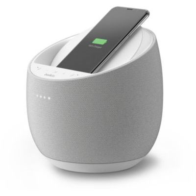 image Belkin Enceinte Hi-Fi connectée + Chargeur à induction intégré SoundForm Elite (Alexa, Bluetooth, Devialet, AirPlay 2, blanc)