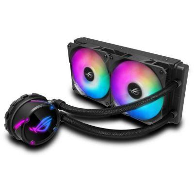 image ROG STRIX LC 240 RGB, Cooler CPU All-IN-One ROG, avec éclairage Addressable RGB, Aura Sync, Revêtement de Pompe Ncvm et Ventilateur de Radiateur ROG
