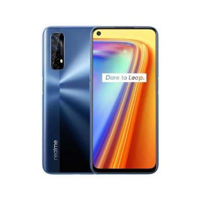 image REALME 7 Bleu Smartphone Débloqué 4G+ - (Ecran : 6,5 Pouces – 6 Go RAM – 64 Go ROM - Double Nano SIM - Android) [Version Française] + coque transparente offerte