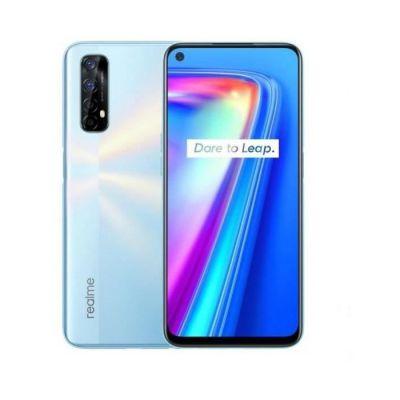 image REALME 7 Blanc Smartphone Débloqué 4G+ - (Ecran : 6,5 Pouces – 6 Go RAM – 64 Go ROM - Double Nano SIM - Android) [Version Française] + coque transparente offerte