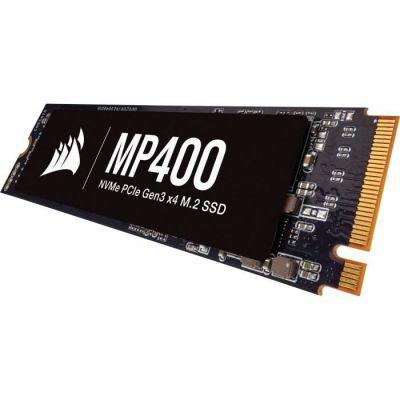 image produit Corsair MP400 2 TB Gen3 PCIe x4 NVMe M.2 SSD (Disque Lecture Séquentielle Allant jusqu'à 3 400 Mo/s et des Vitesses d'Ecriture Séquentielle Allant usqu'à 3 000 Mo/s, Mémoire NAND QLC 3D) Noir