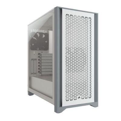 image CORSAIR Boîtier PC 4000D Airflow - Moyen Tour - Verre trempé - Blanc (CC9011201WW)