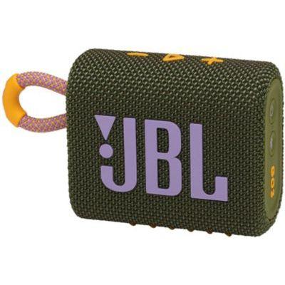 image JBL GO 3 – Enceinte Bluetooth portable et légère, aux basses intenses et au style audacieux – Étanche à l'eau et à la poussière – Autonomie 5 hrs – Vert