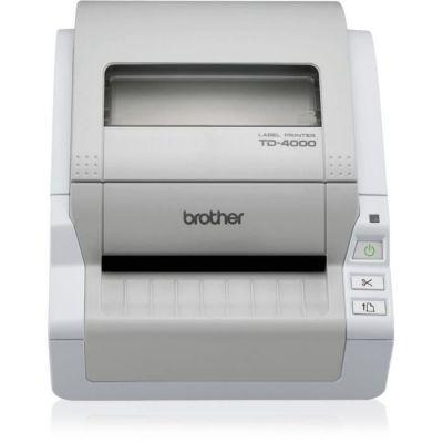 image Brother TD-4000 Imprimante d'étiquettes professionnelle 4 pouces |idéale gros volume |résolution 300dpi | Ruban RD 12 à 102mm | 69 étiquettes/min