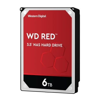 "image WD Red 6TB 3.5"" NAS Disque Dur Interne - 5400 RPM Class, SATA 6 Gb/s, CMR, 64MB Cache - WD60EFAX"