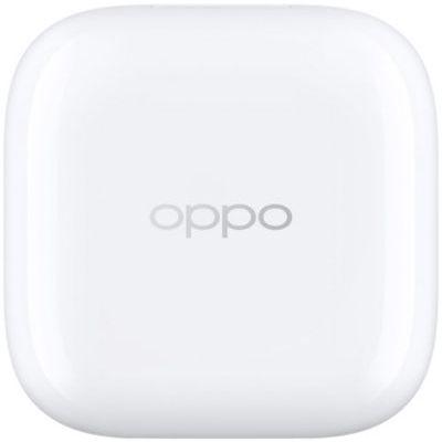 image OPPO Enco W51 Blanc Ecouteurs Bluetooth Sans Fil - Réduction Active du Bruit - Recharge à induction