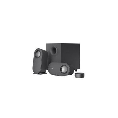 image Logitech Z407 Haut-parleurs Bluetooth pour ordinateur avec caisson de basses et contrôle sans fil, son immersif, audio premium avec plusieurs entrées et haut-parleurs USB - Noir