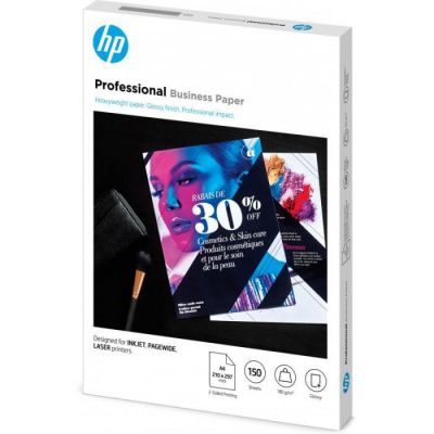 image Papier professionnel HP Business, brillant, 180 g/m2, A4, 150 feuilles