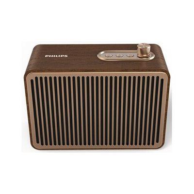 image Philips Audio Bluetooth Speaker VS500/00 (Bluetooth, 10 Heures d'autonomie, Son Puissant, Basses Pleines, entrée Audio 3, 5 mm, 10 Watts) Marron TAVS500/00
