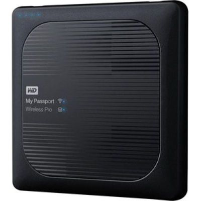 image Disque dur WD My Passport Wireless Pro 4 To Noir (Wi-Fi/USB 3.0/SD-Card)